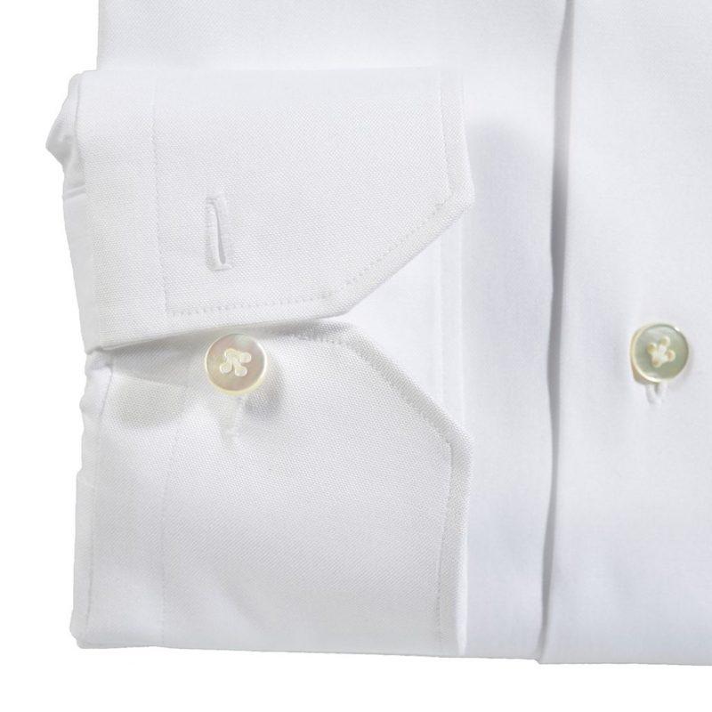 Biała Koszula Zaremba z ręcznym wykończeniem