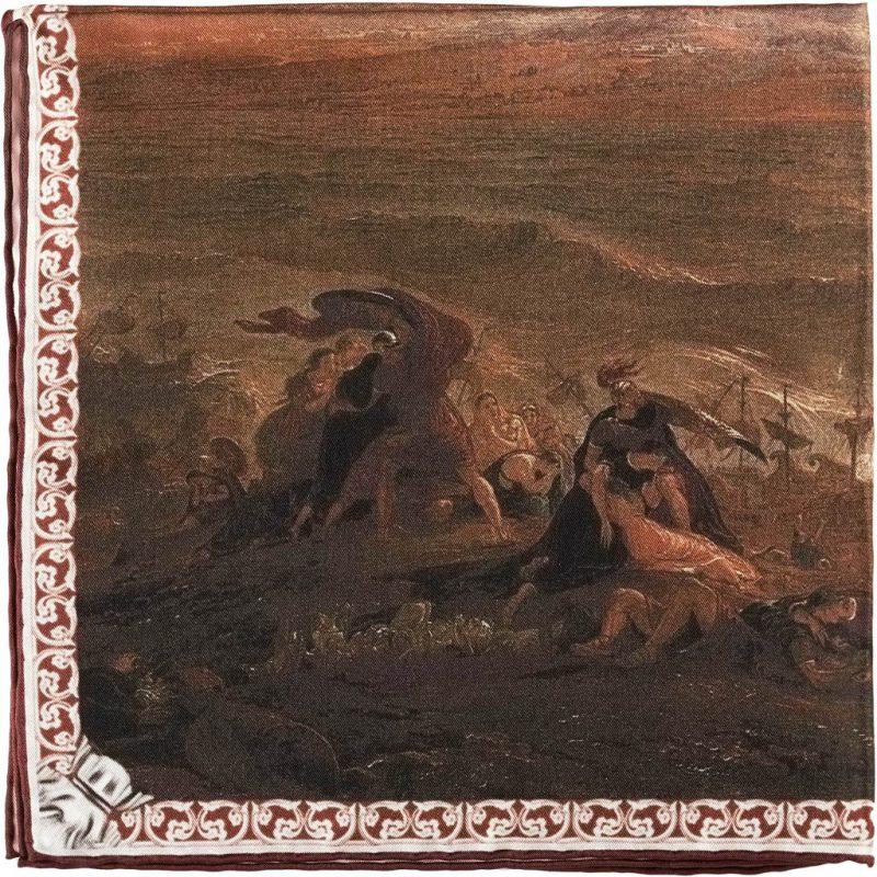 Poszetka Jedwabna Rampley Zniszczenie Pompejów
