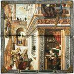 Poszetka Jedwabna Rampley Zwiastowanie ze św. Emidiuszem